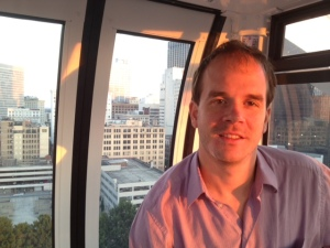 Adam Robinson on  a Ferris Wheel in Atlanta